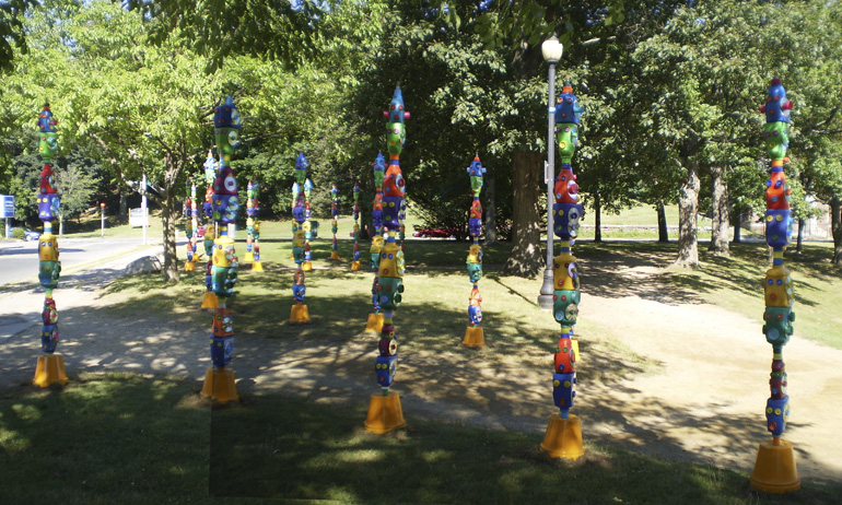 Totems in Elm Park
