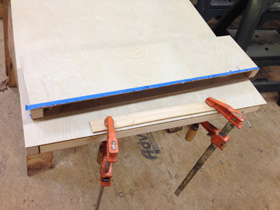 5. Cut and glue panels